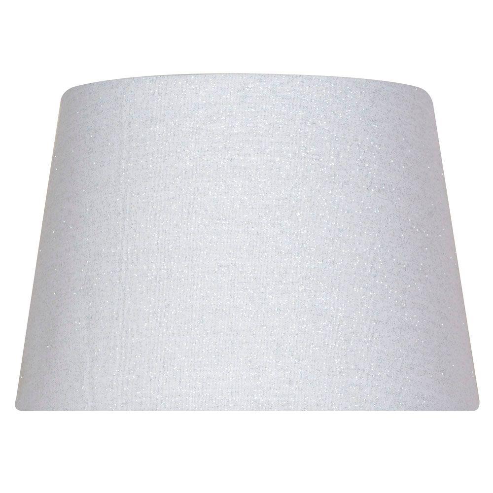 Abat-jour tambour blanc pour lampe d'appoint de 7 po.