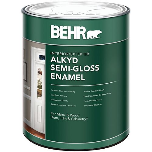 BEHR Interior/Exterior Alkyd Semi-Gloss Paint, 946 mL