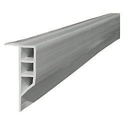 Dock Edge 16 ft. Full Face Profile Dock Bumper in Grey