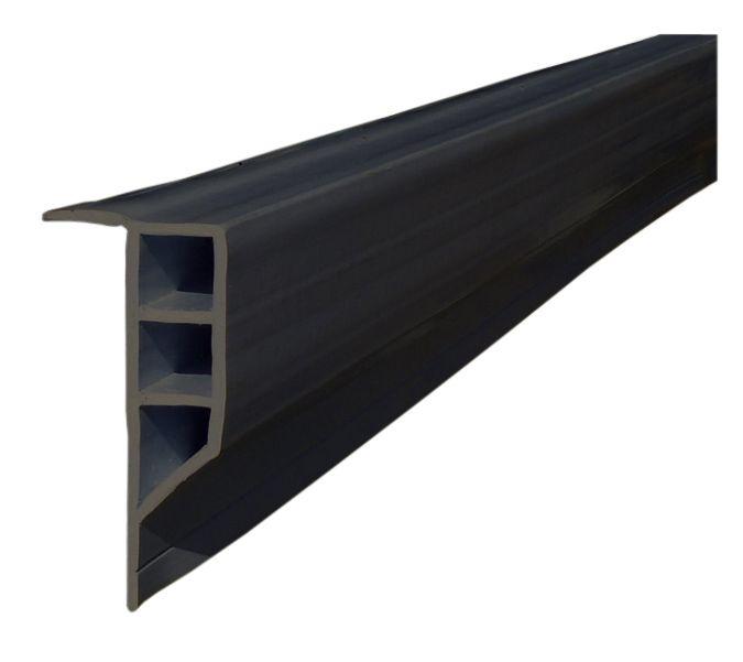 Profiles pour Quais, Face Plane, Noir, rouleau 16 pieds
