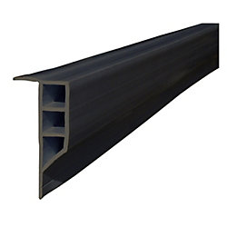 Dock Edge 16 ft. Full Face Profile Dock Bumper in Black
