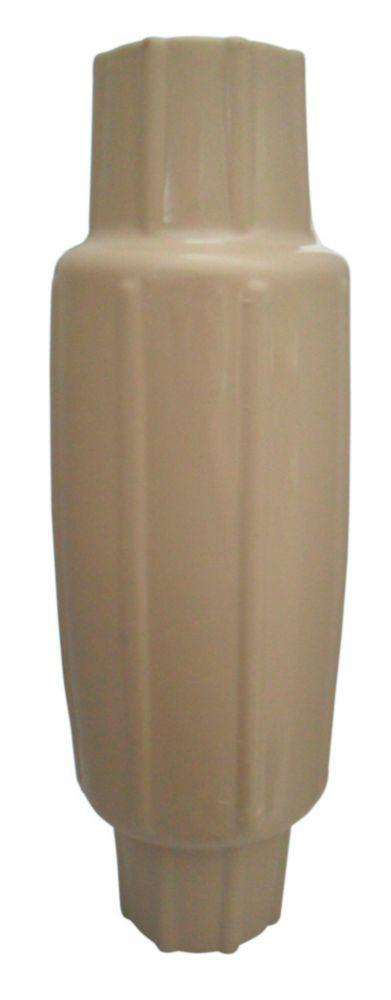 Butoir torpille pour poteau, beige