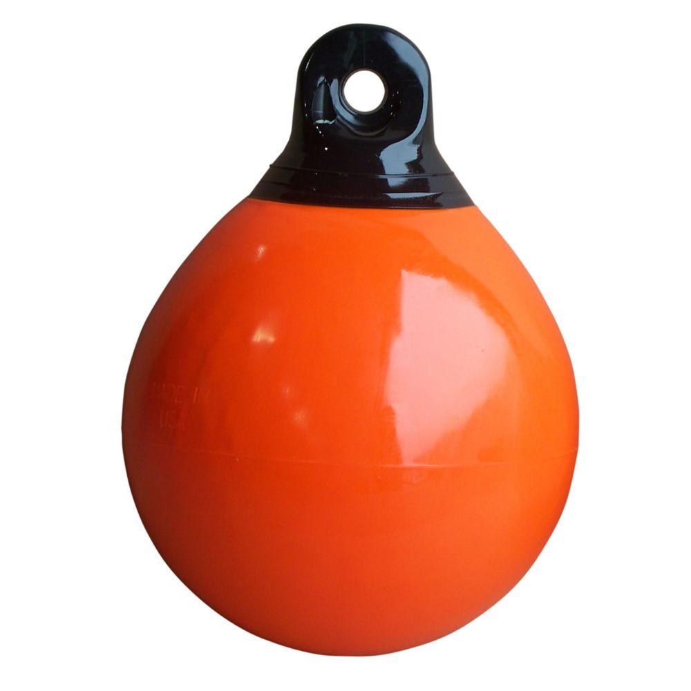 Bouée d'amarrage gonflable, 10 pouces, orange