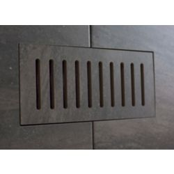 Aod Stone Porcelain vent cover made to match Fragment Graphite tile. Size - 5-inch x 11-inch