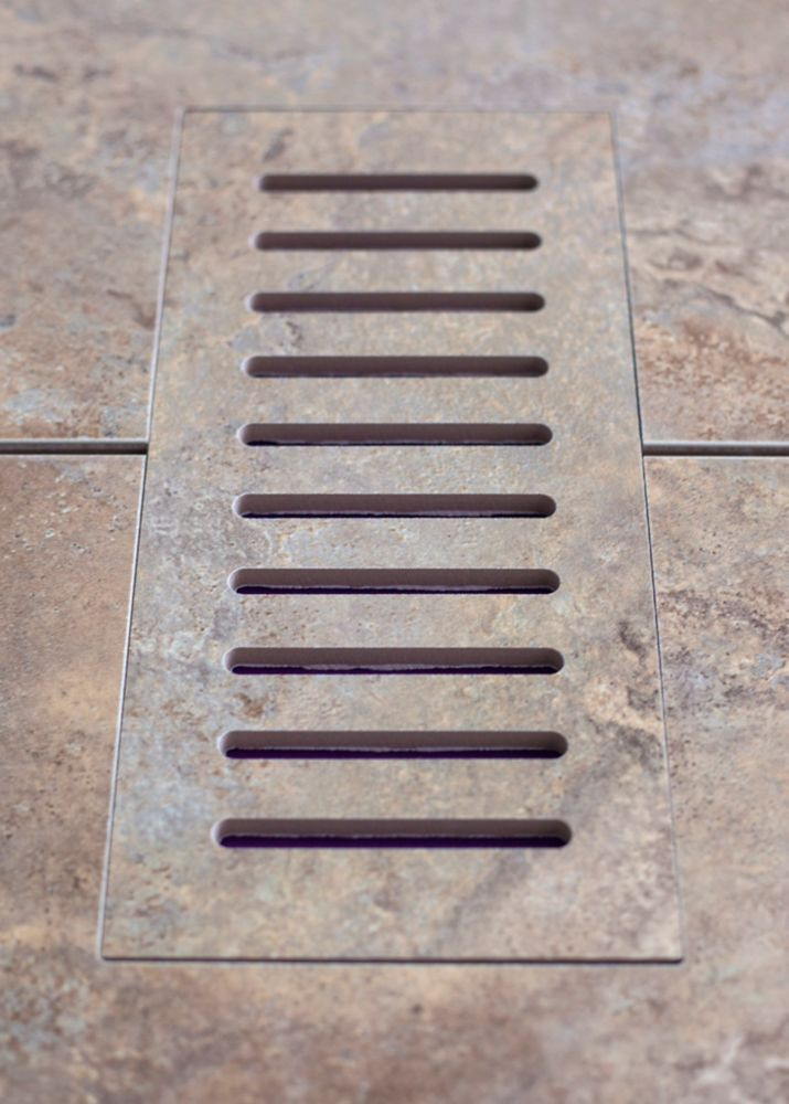 Porcelain vent cover made to match Estrusca Villa tile. Size - 5-inch x 11-inch