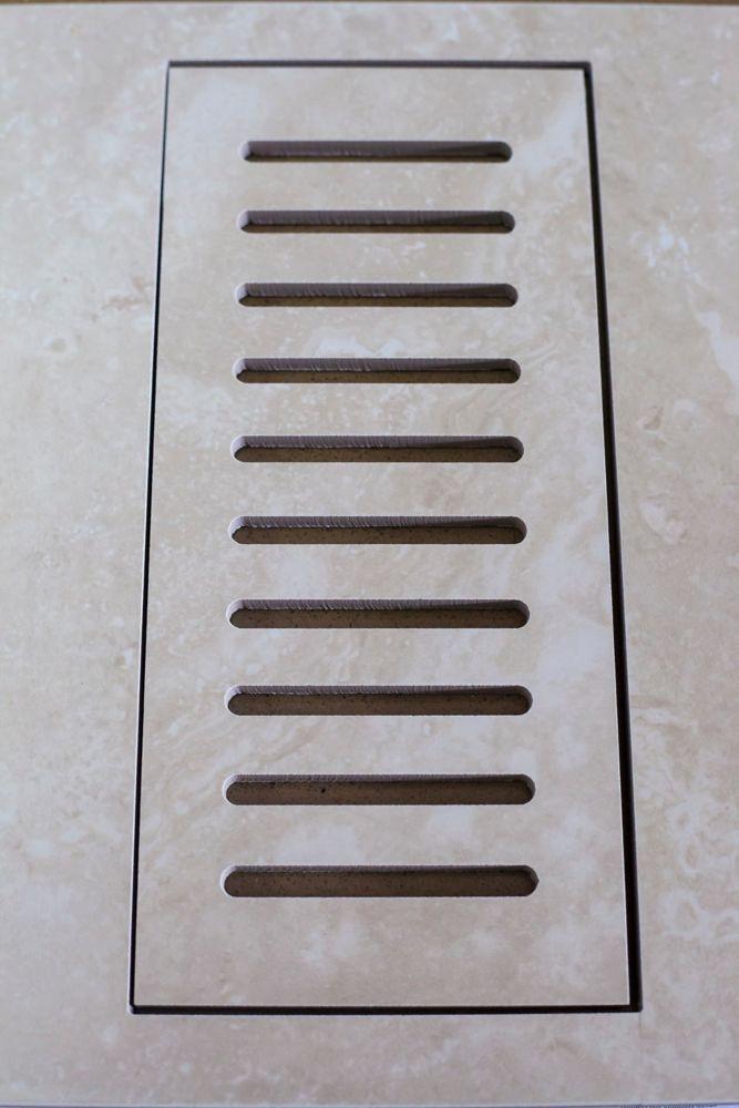 """Les couvercles porcelaines de ventilation fait pour correspondre Sydney Ivory. Taille 4"""" x 11"""""""