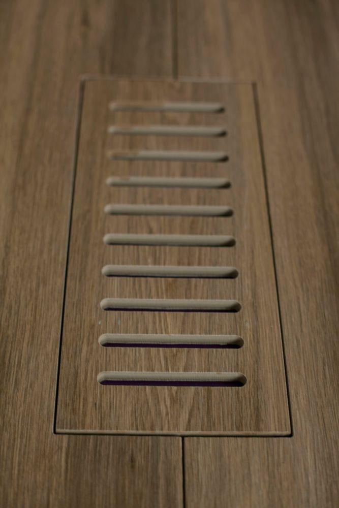 """Les couvercles porcelaines de ventilation fait pour correspondre  Aged Teak Plank. Taille 4"""" x 11..."""