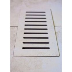 Aod Stone Ceramic vent cover made to match Addison Place Gallery Crème tile. Size - 5-inch x 11-inch