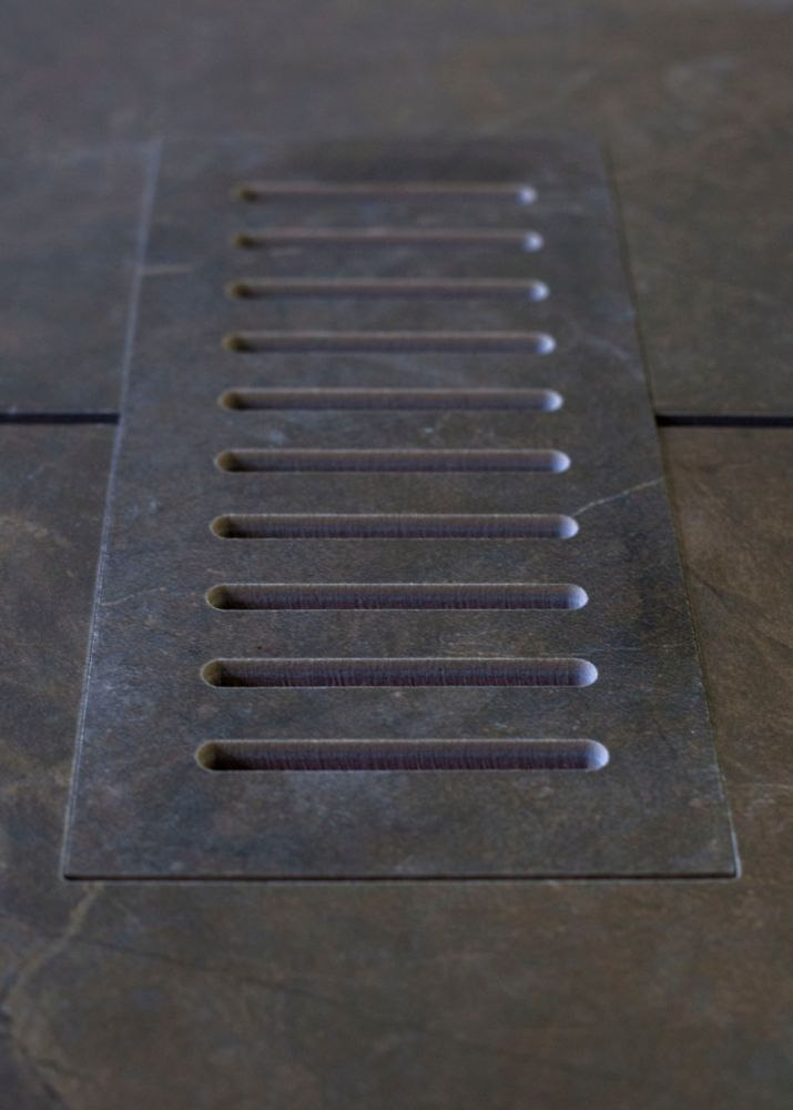 Aod Stone Ceramic vent cover made to match City Scape tile. Size - 5-inch x 11-inch