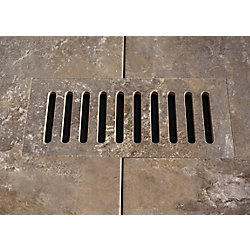 Aod Stone Ceramic vent cover made to match Addison Place Studio Grey tile. Size - 4-inch x 11-inch