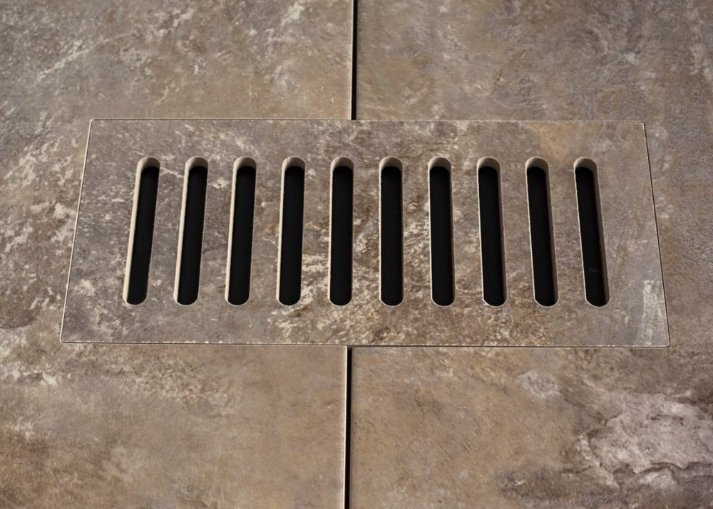 Ceramic vent cover made to match Addison Place Studio Grey tile. Size - 4 Inch x 11 Inch