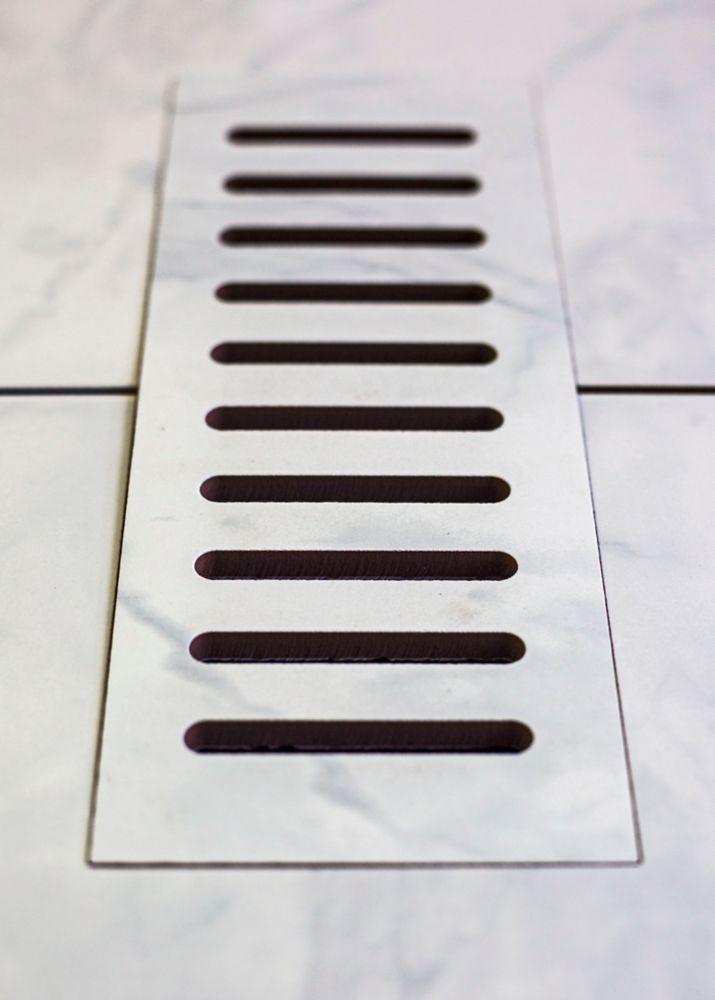 Aod Stone 3-inch x 10-inch Ceramic Vent Cover in Carrara