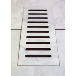 Aod Stone 3-inch x 10-inch Ceramic Vent Cover in Carrara