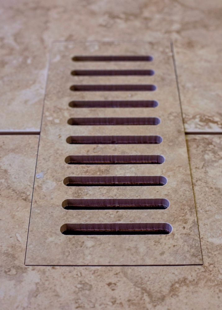 Ceramic vent cover made to match Lagos Beige tile. Size -  4 Inch x 11 Inch