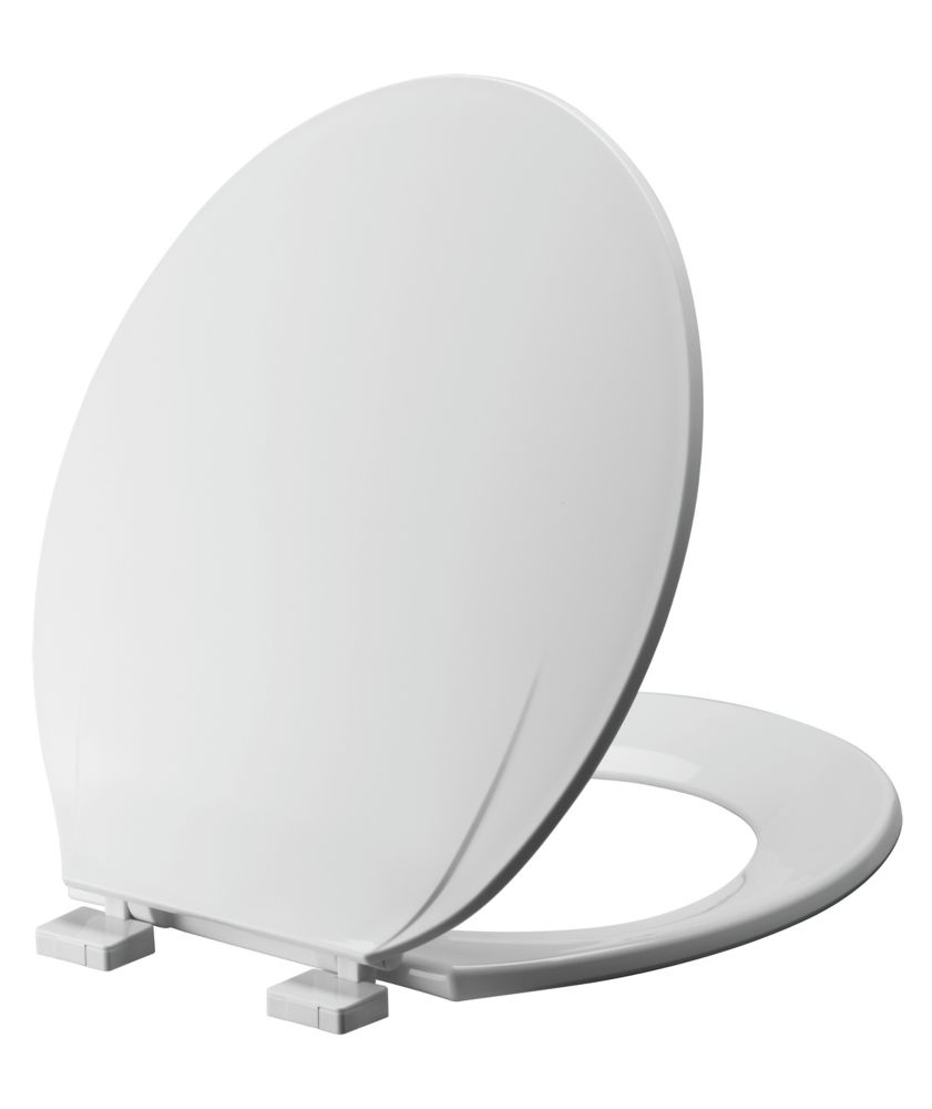 d shaped wooden toilet seat. Elongated Toilet Seat In White Seats  The Home Depot Canada
