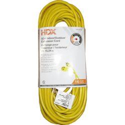 HDX 50 ft. 16-Gauge Indoor/Outdoor Extension Cord