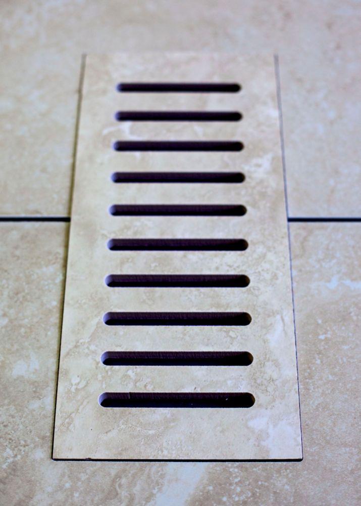 """Les couvercles céramiques de ventilation fait pour correspondre Astral Grey. Taille  5"""" x 11"""""""