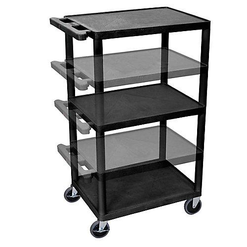 Endura Multi-Height AV Cart 3 shelves
