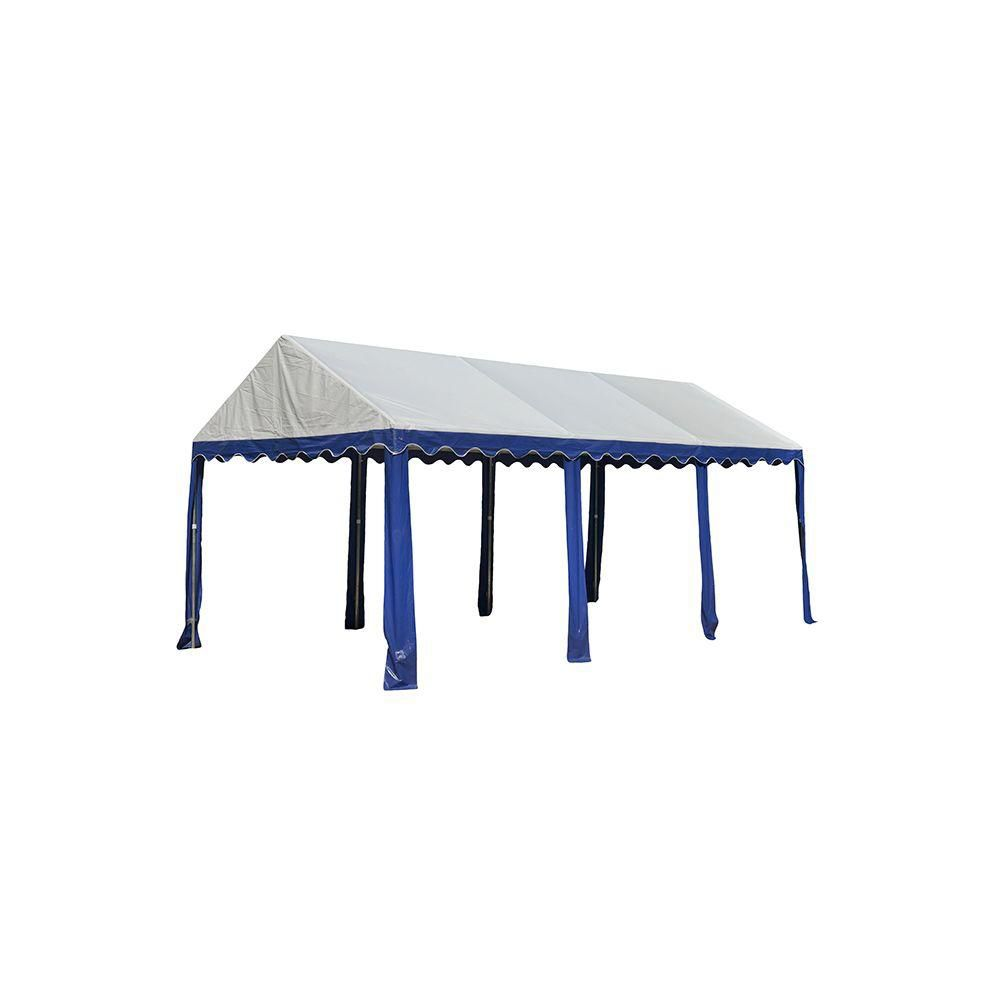 Party Tent 10x20 Feet.  - Blue/White