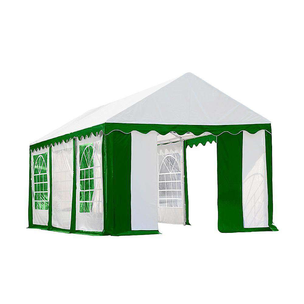 10 ft. x 20 ft. Party Tent & Enclosure Kit in Green/White