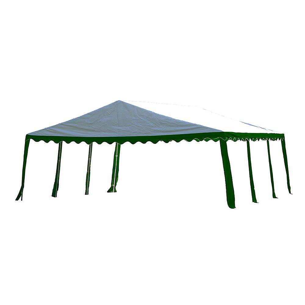 Tente de réception 6 x 6 m - Verte / Blanche