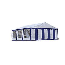 ShelterLogic 20 ft. x 20 ft. Party Tent & Enclosure Kit in Blue/White