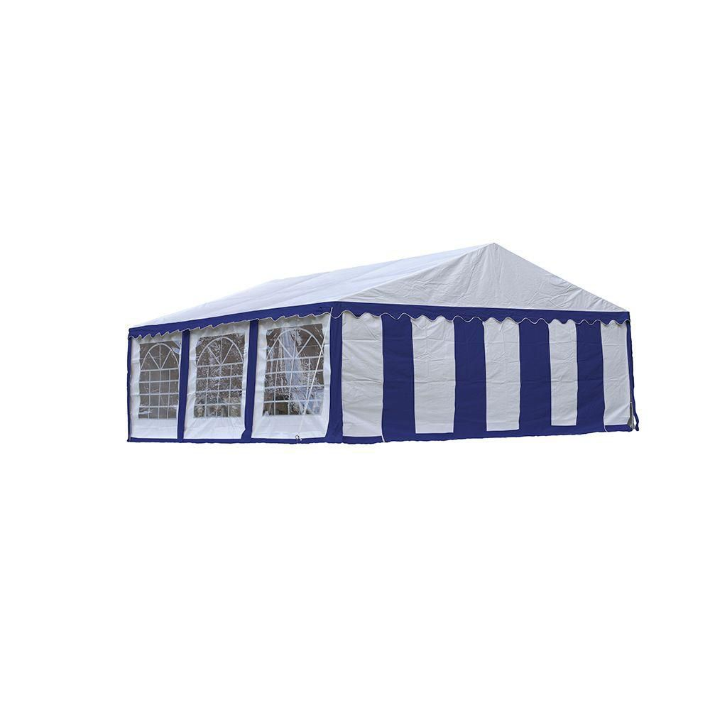 20 ft. x 20 ft. Party Tent & Enclosure Kit in Blue/White