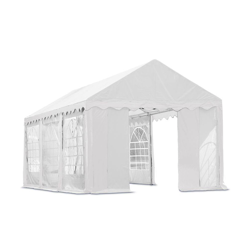 Kit fermeture avec fenêtre pour tente de réception 3x6 m - Blanc (Structure, couverture non inclu...