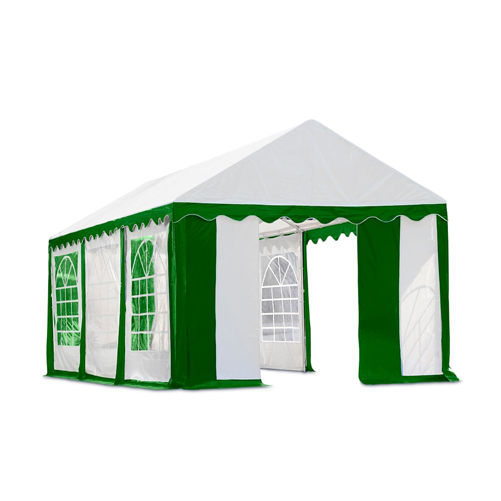 Kit fermeture avec fenêtre pour tente réception 3x6m - Vert/Blanc (Structure,couverture NON inclu...