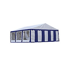 20 ft. x 20 ft. Canopy Enclosure Kit in Blue and White