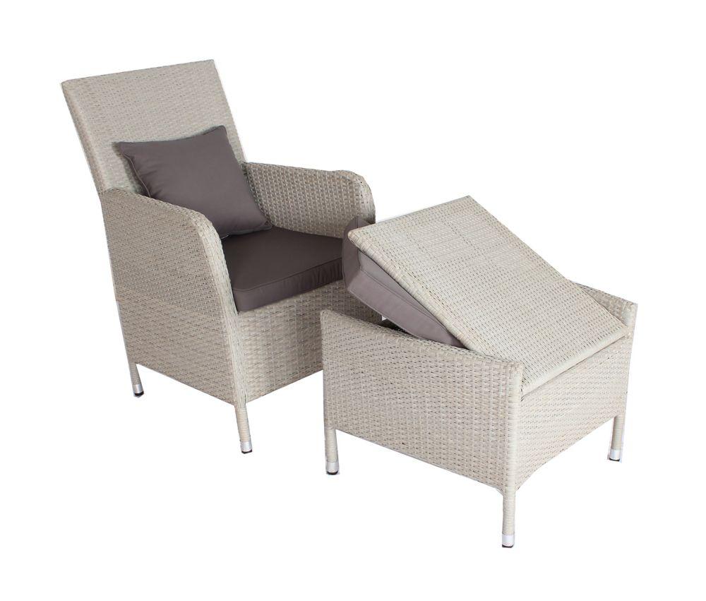 Portobello Chair and Ottoman Outdoor Set