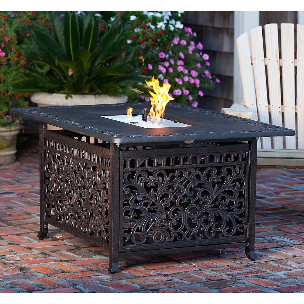 Rectangle Outdoor Propane Firepit Table