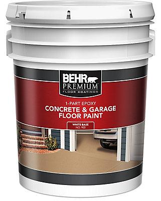 behr premium 1-partie Époxy peinture acrylique pour béton ... - Peinture Pour Plancher De Beton