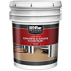 Behr Premium 1-Part Epoxy Acrylic Concrete & Garage Floor Paint - White, 18.9 L