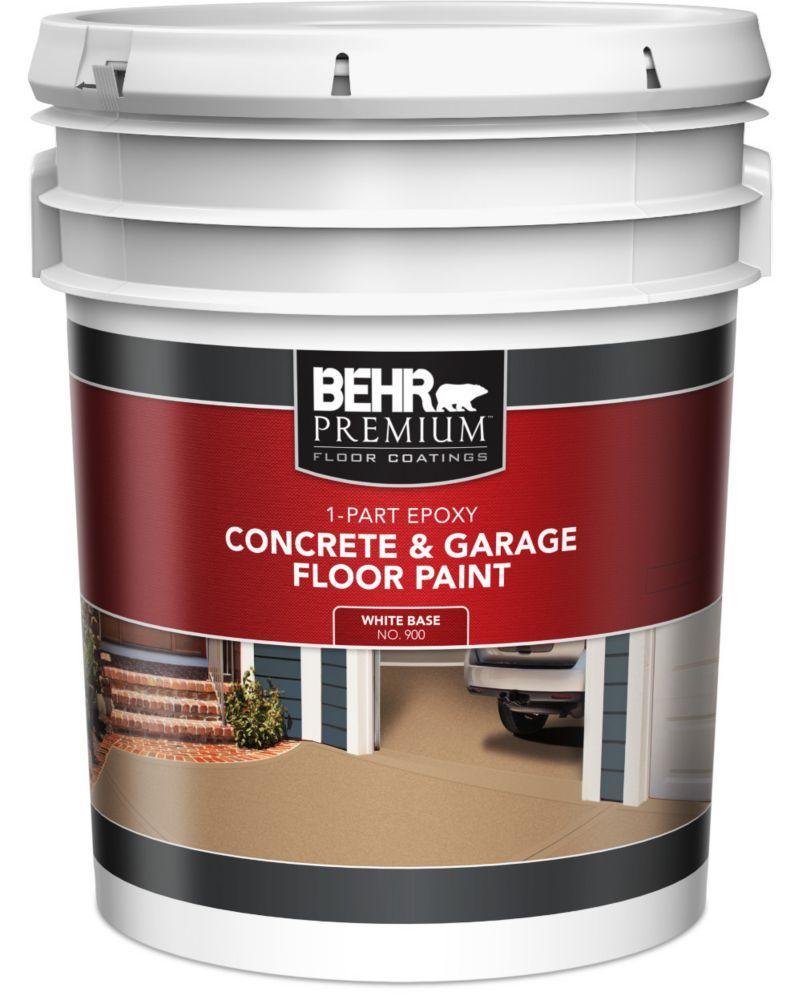 1-Part Epoxy Acrylic Concrete & Garage Floor Paint - White, 18.9 L