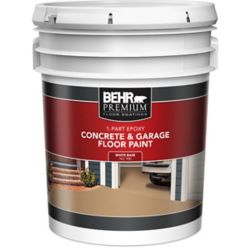 Behr Premium 1-Part Epoxy Acrylic Concrete & Garage Floor Paint - White, 18.9 L