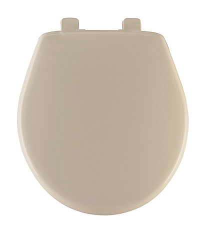 non slam toilet seat. Round Closed Front Toilet Seat in Bone Bemis Next Step  The Home Depot Canada