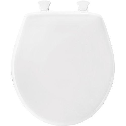 Bemis Round Plastic Closed Front Toilet Seat in White
