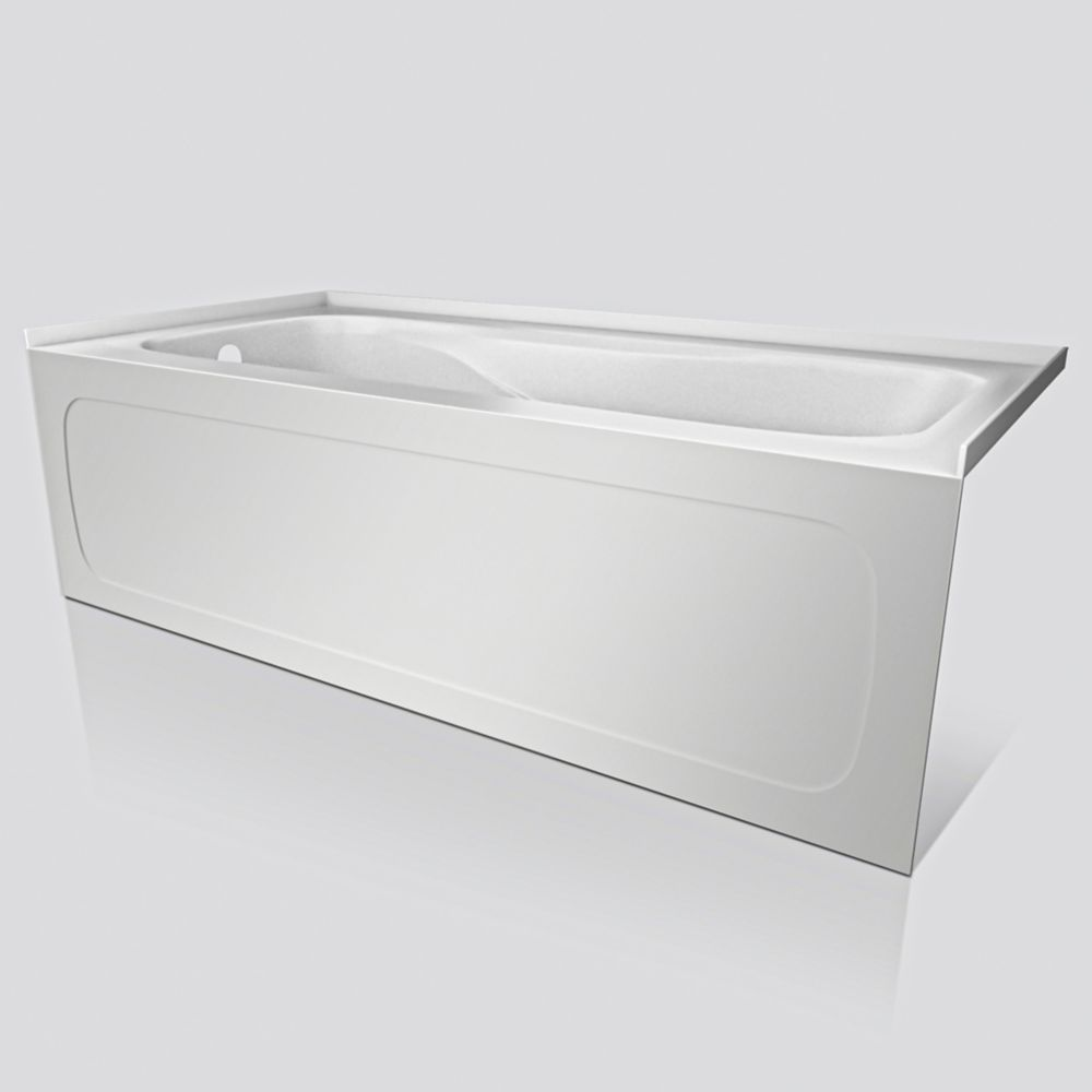 Valley pro 5 feet acrylic drop in non whirlpool bathtub for Pros and cons of acrylic bathtubs