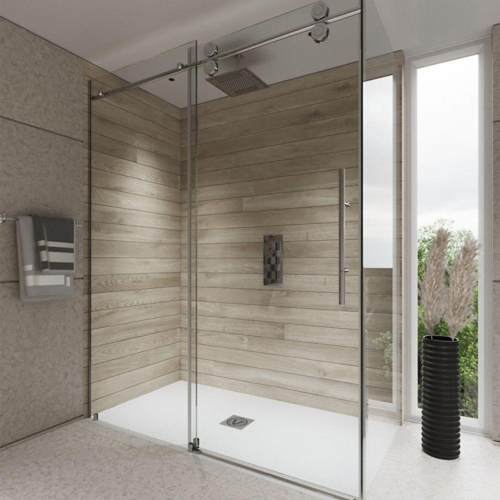 Maax Halo Big Roller 60 Inch Frameless Sliding Shower Door