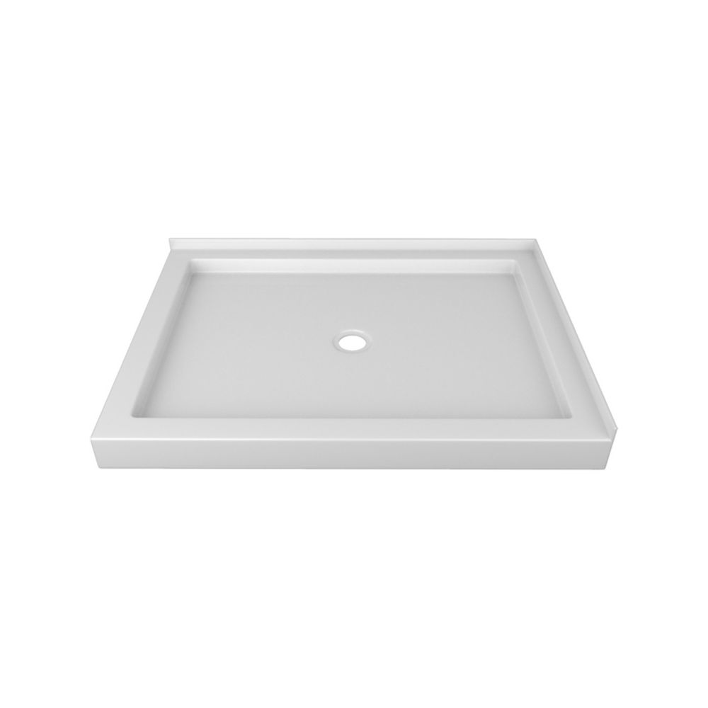 48 x 36 In. Double Threshold Left-Hand Shower Base