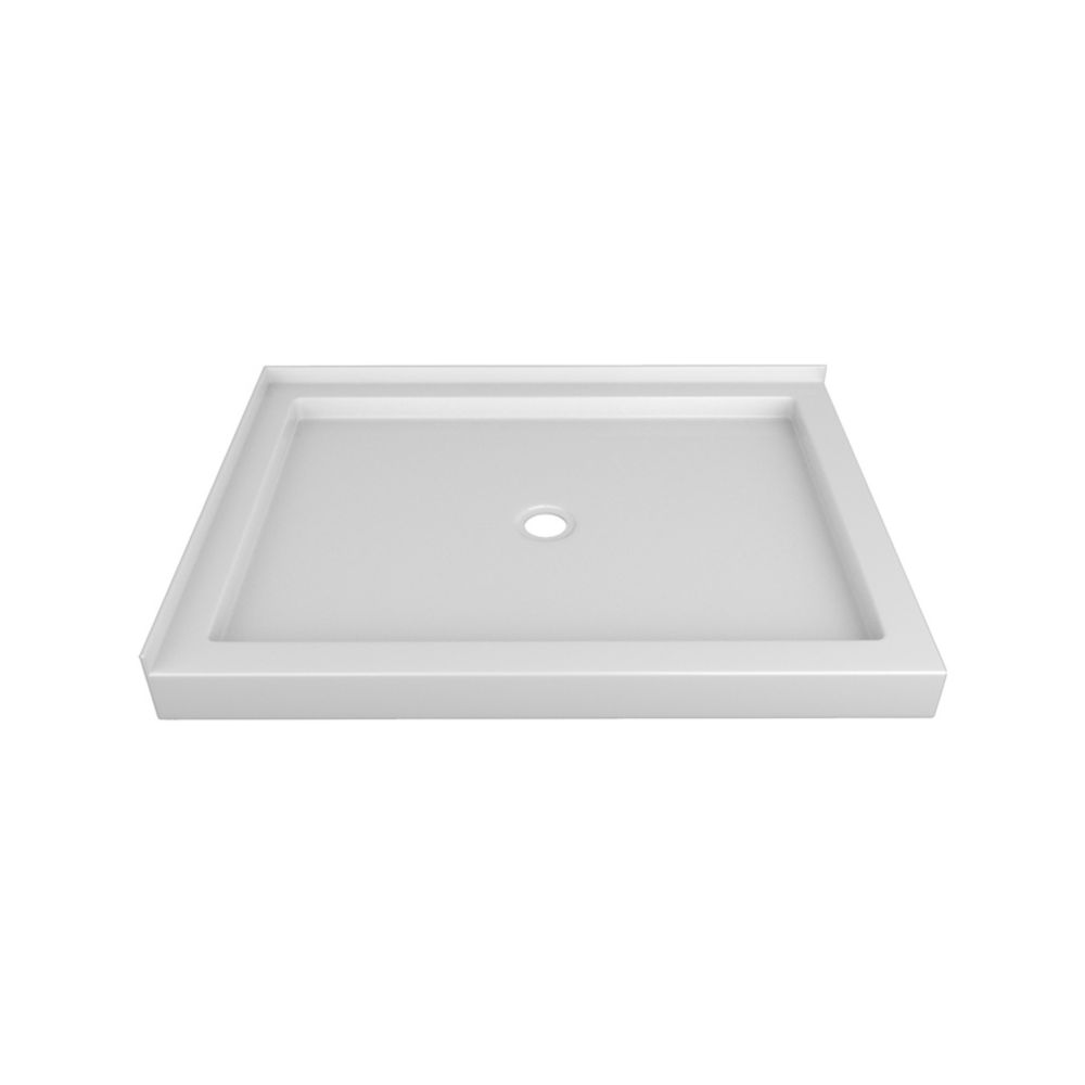 48 x 36 In. Double Threshold Right-Hand Shower Base