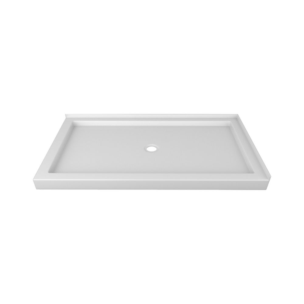 60 x 32 In. Double Threshold Left-Hand Shower Base SBDT6032L Canada Discount