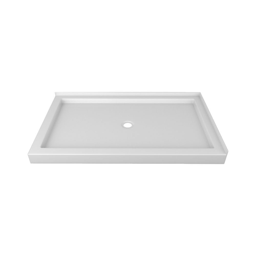 60 x 36 In. Double Threshold Left-Hand Shower Base