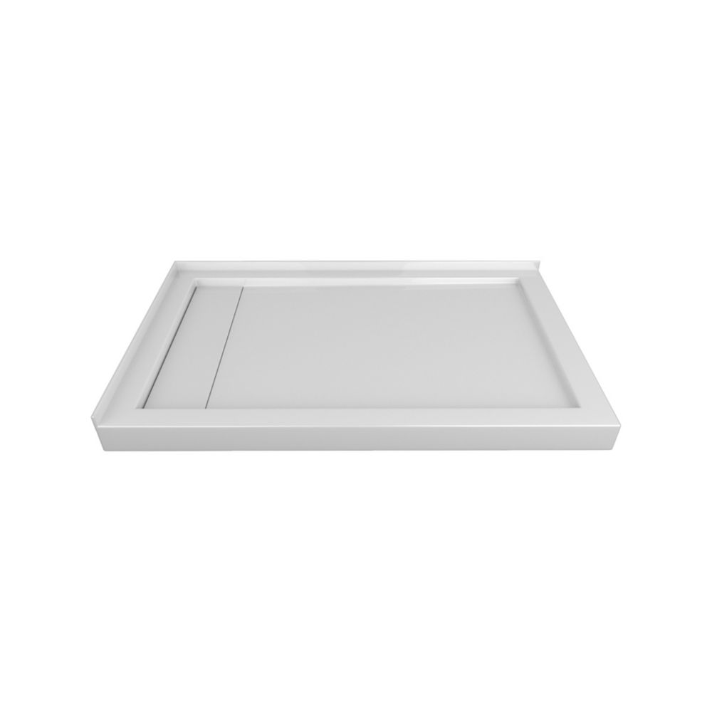 48 x 32 In. Linear Drain Double Threshold Right-Hand Shower Base