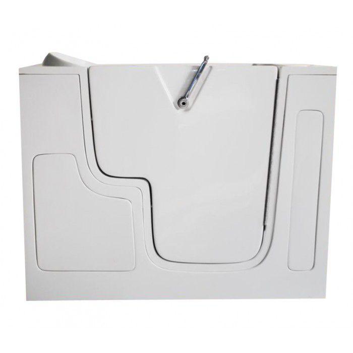 4 Feet 7-Inch Walk-In Whirlpool Bathtub with Pedicure System