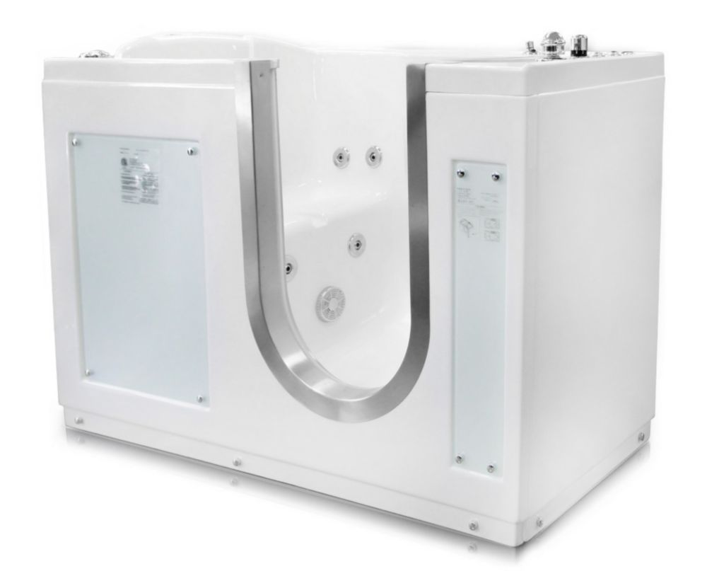 LIFE3-9 52 x 30 In. Walk-In Tub With Air Jetted Pedicure System. Right Drain. LIFE3-9PEDICURE-R Canada Discount