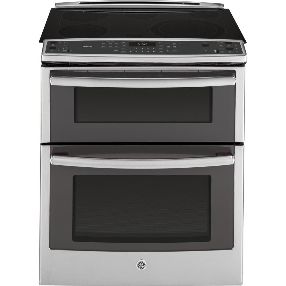 6.6 cu. ft. Slide-In Electric Double Oven in Stainless Steel