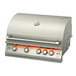 Broilchef Broilchef 32 pouces intégré LP Barbecue au gaz avec brûleur de tournebroche arrière