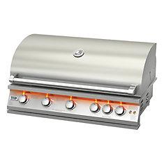 40 pouces intégré LP Barbecue au gaz avec brûleur de tournebroche arrière